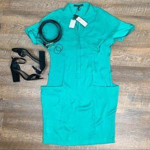 New BCBGMaxAzria tide Zenja shirt dress